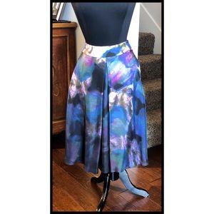 Silk Cynthia Rowley Sz 4 Flare Skirt